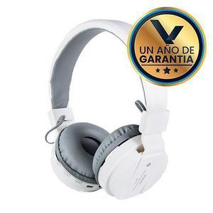 Audífonos diadema micrófono bluetooth blanco:: virtual