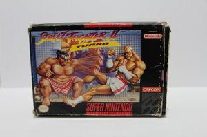Street fighter 2 turbo snes con caja consolas de luigi