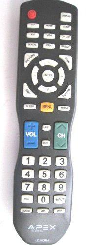 Apex ld200rm remote control for all apex lcd & led tv for se