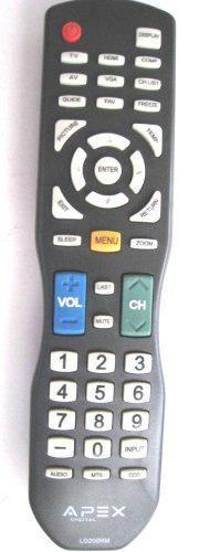 Apex ld200rm remoto de control para todos apex lcd y led tv