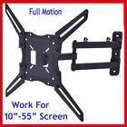 Full motion tv wall mount tilt led lcd flat screen bracket u