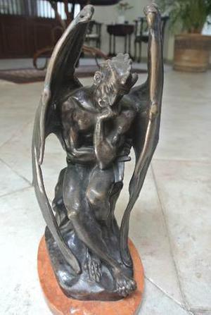 Satan, Escultura De Bronce Por Jj Feuchere De 1833