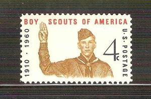 1960 estados unidos usa boy scouts de américa, saludo mnh