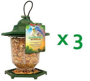 3 alimentadores semillas para aves canarios 360gr fl9236x3