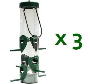 3 alimentadores semillas para aves canarios 600gr fl9237x3