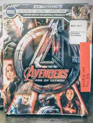 Blu ray marvel avengers era de ultron 4k steelbook lim edit