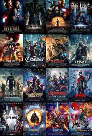 Colección películas de marvel en full hd universo marvel