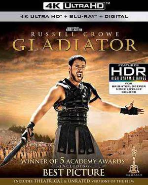 Gladiador gladiator russell crowe pelicula 4k uhd + blu-ray