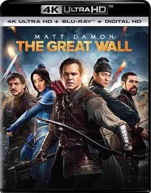 La gran muralla pelicula en 4k ultra hd + blu-ray + cop dig