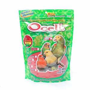 Ocell factor rojo 500gr bolsa alimento para aves canarios