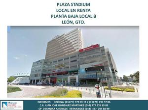 Plaza stadium, local en renta planta baja local 8, león