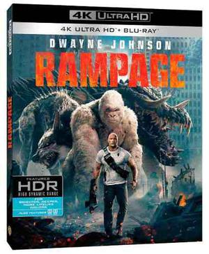 Rampage devastacion pelicula 4k ultra hd + blu-ray
