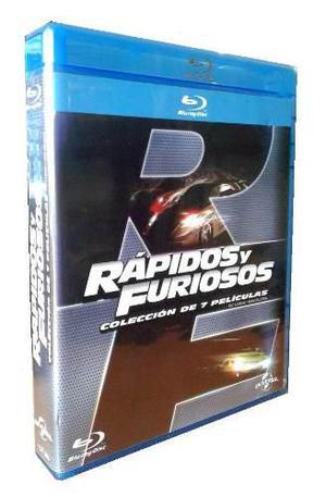 Rapidos y furiosos coleccion peliculas 1 - 7 boxset blu-ray