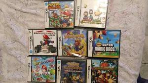 Nintendo ds 8 juegos mario,pokemon,donkey kong,yoshi