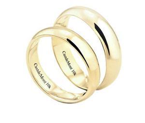 3d59e008fa1ff Argollas de matrimonio 4mm par anillos boda amarillo 10k