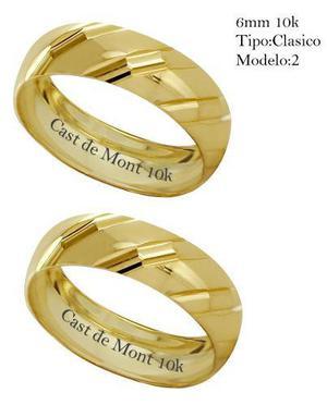 f83cff359f1a Argollas de matrimonio 6mm anillos de boda clasica par!10k