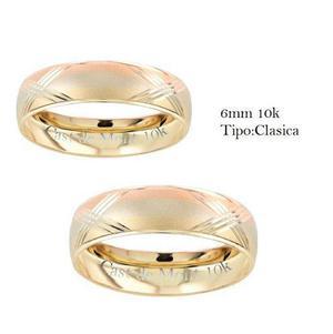 3e4dacd9ac45 Argollas de matrimonio 6mm florentina anillo boda par oro10k en ...