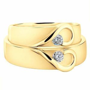 56fe75d196bf Argollas de matrimonio corazón par ! fit. anillo boda 14k
