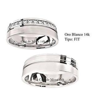 680b90430415 Argollas de matrimonio fit par anillos boda oro blanco14k en México ...