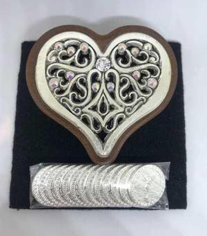 Arras chapa plata corazon abundancia