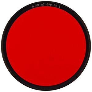 B w 67mm 090 filtro de vidrio - rojo luz 24