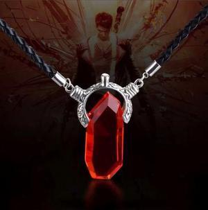 Collar devil may cry envio gratis dante piedra roja o azul