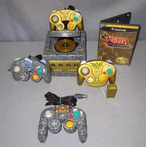 Consola gamecube personalizada con 2 controles inalambricos