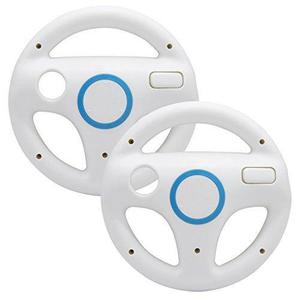 Juegos wii mario kart ruedas de dirección, 2pcs rueda de ca