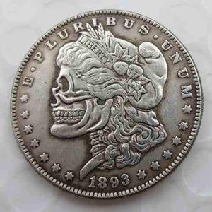 Moneda antigua dolar 1983 morgan cráneo de colección