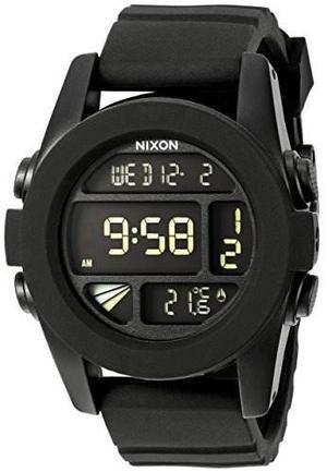 33f536ab7b38 Nixon mens a197-000 silicone digital quartz black watch