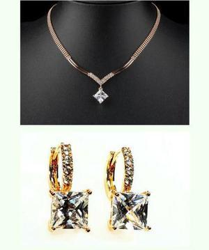 e7e6246e22d6 Set oro cristal swarovski el regalo más fino collar-