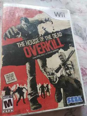 THE HOUSE OF THE DEAD OVERKILL WII NINTENDO SEGA segunda mano  México (Todas las ciudades)