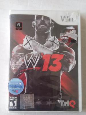 Wwe 13 wii nuevo sellado nintendo 2013 lucha libre smack raw