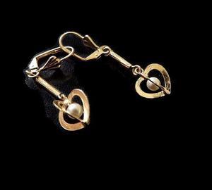 4d3527c23ada Arete especial con cristal en chapa de oro de 14k