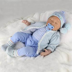 Bebe reborn muñeco de silicona blanda 22 pulgadas
