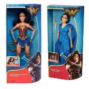 Dc comics wonder woman 2 muñecas barbie mujer maravilla