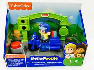 Little people policia detente y avanza fisher price