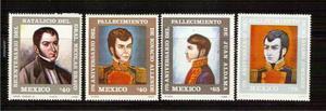 1986 mèxico héroes d independencia 4/sellos hombres