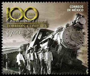 2014 méxico centenario toma de torreón locomotora trenes