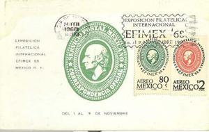 Tpm18-3 tarjetas postales maximas de mexico filatélia-