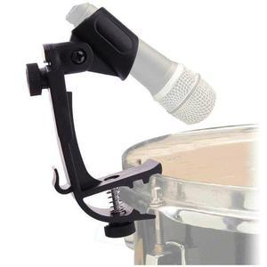 6 bases de microfono para bateria tambor clip stand