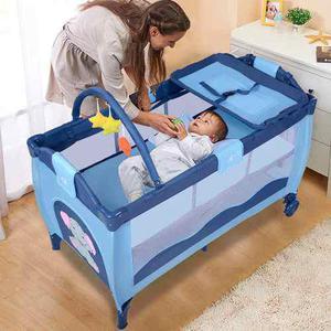 Cuna bebe viaje plegable azul *envío sin costo