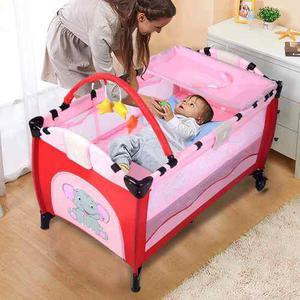 Cuna bebe viaje plegable rosa *envio gratis