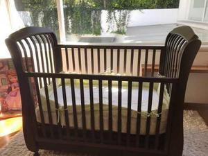 Cuna covadonga color chocolate marcoq muebles recamara