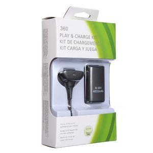Kit carga y juega control xbox 360 cable + batería 4800 mah