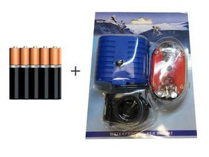 Luces bicicleta led lampara luz led bici trasera +5 bateria