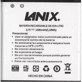 Pila bateria lanix s106 s130 x200 1300 mah e/g