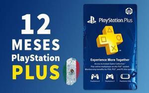 Psn plus 12 meses ps4 garantizado (incluye juegos gratis)