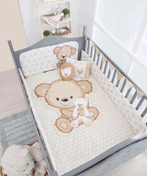 Set de edredon para cama cuna corral teddy bear chiquimundo