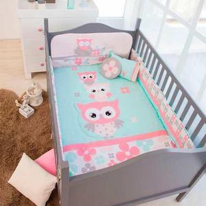 Set edredon cama cuna corral bebe buhitos chiquimundo
